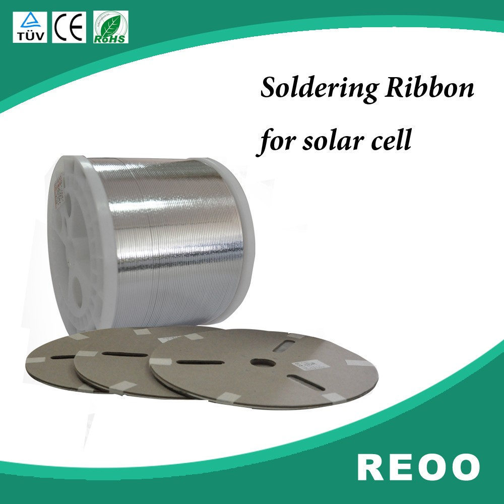 solar panel raw materials cell tabing wire 0.23x1.6mm PV ribbon for solar cell soldering