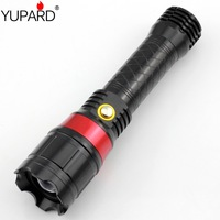 Red laser outdoor Q5 LED zoom flashlight long distance strong light riding charging with battery charger flashlight