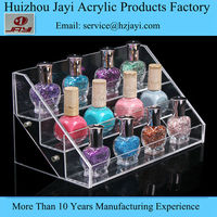 3 Tiers acrylic nail polish display rack ,Table top nail polish display rack