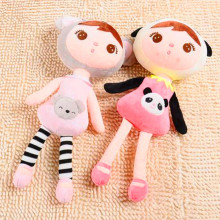 2016 new design lovely cotton fabric soft toys for kid plush doll