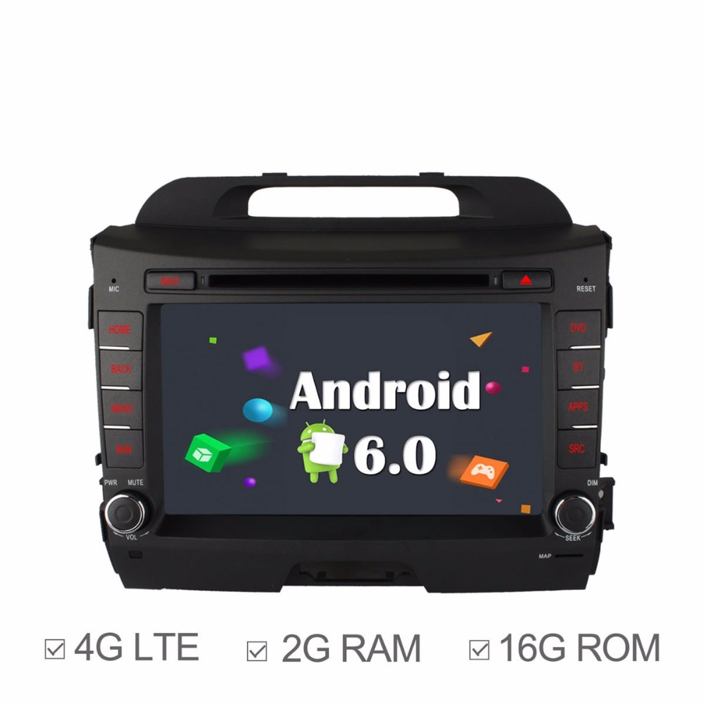 FOR K/IA s/portage r 2011 - 2015Android 6.0 Car DVD Player GPS TV 4G Radio support rear camera touch screen Bluetooth