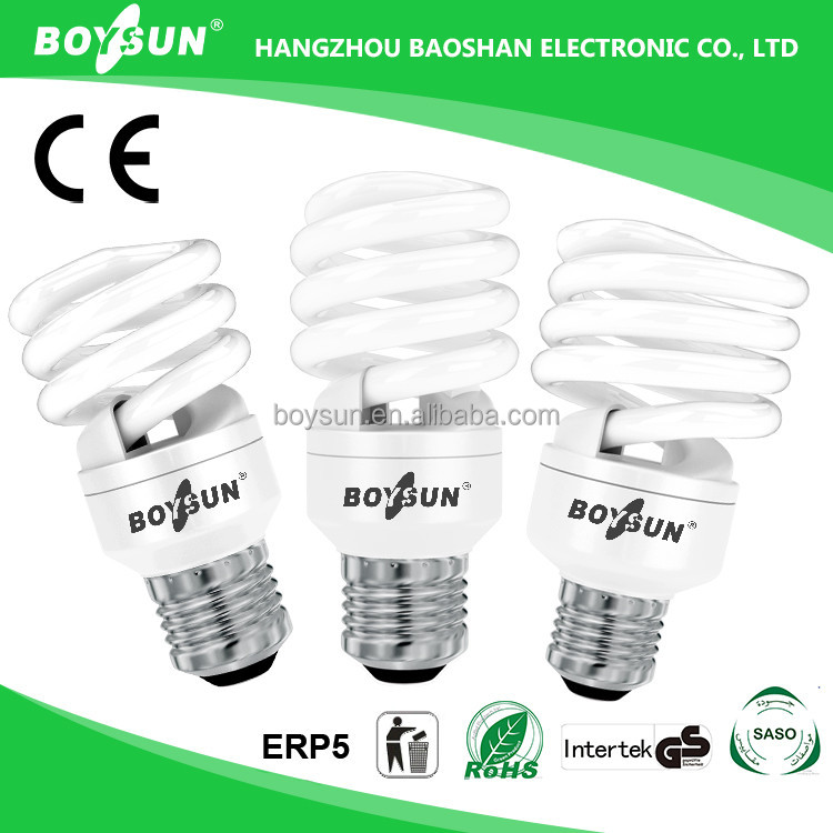 SAA CE RoHS UL Approved Boysun / OEM E27 Lamp Holder spiral cfl bulb light