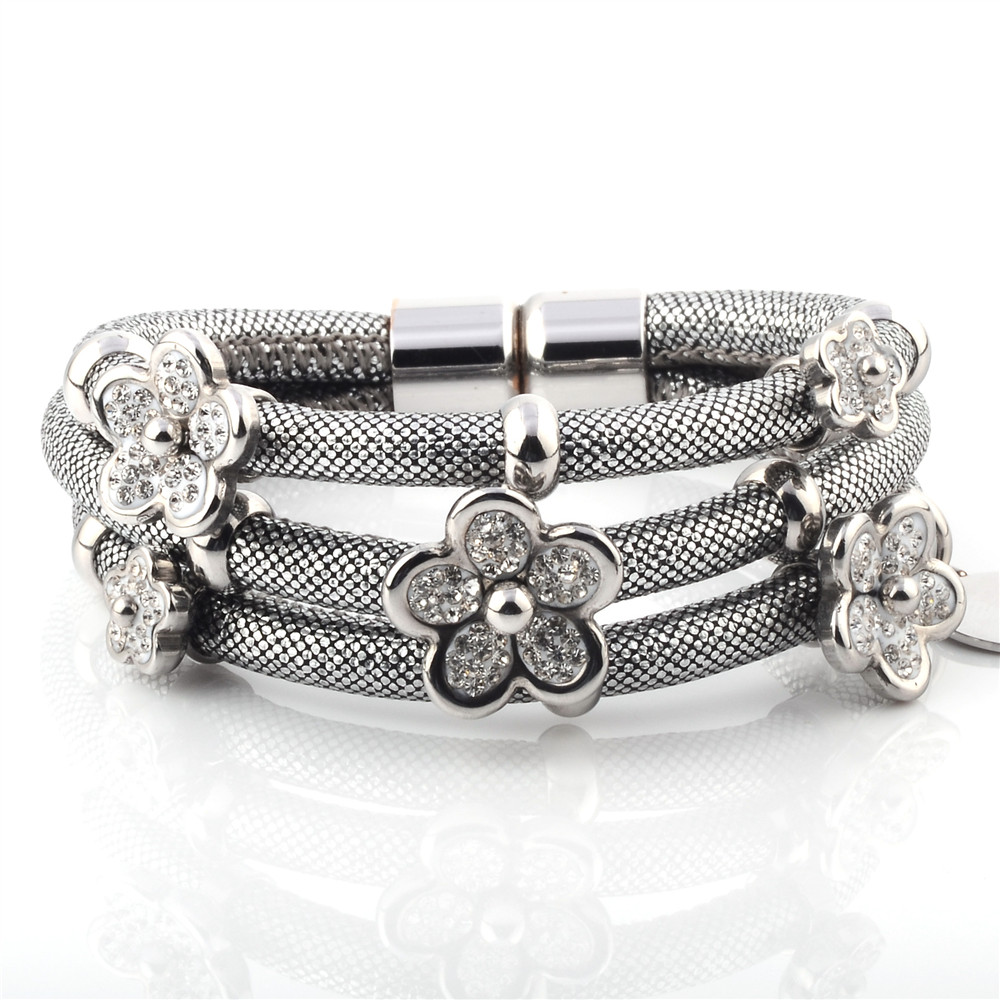 Wholesale Charm Leather Crystal Bracelet For Women