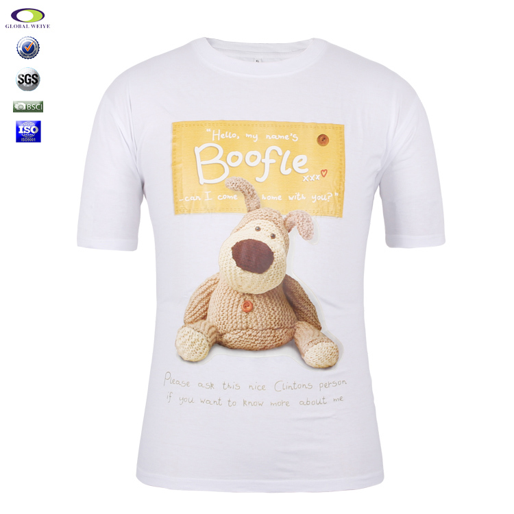 Wholesale Cotton Man T-Shirts Lovely Bear Silkscreen Printing