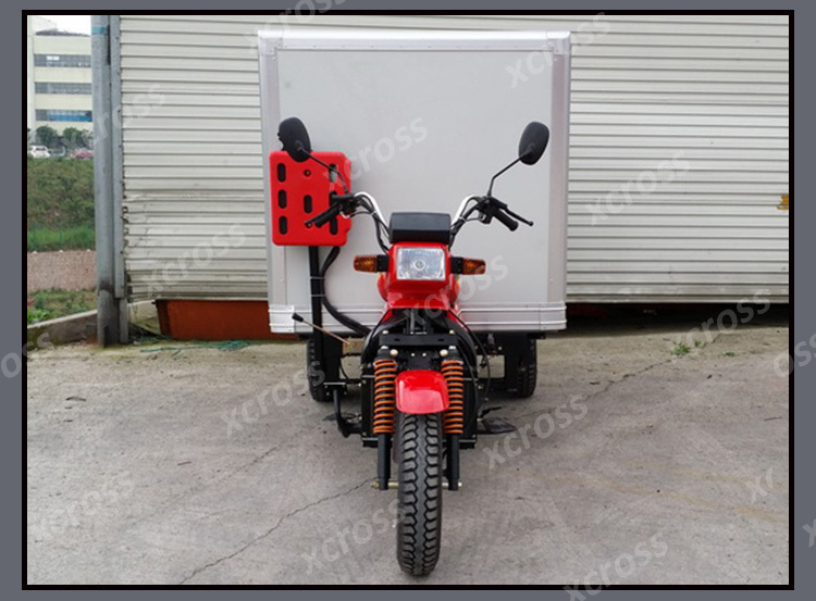 Chinese 200CC Tricycle 3 Wheel Motorcycle with Food Box and Water cooled Engine For Sale Xcargo200U
