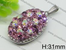 China Supplier Hot Crystal Design letter v pendant