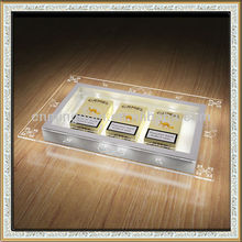 acrylic cigarette case display, OEM design led acrylic tobacco case glorifier display stand