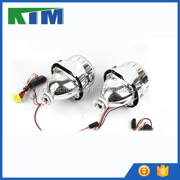 KIM universal automobile lens CCFL angel eyes headlights daytime running lights refit car accessories devil eyes