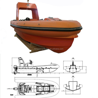 FRP Inflatable Boat with Outboard Motor