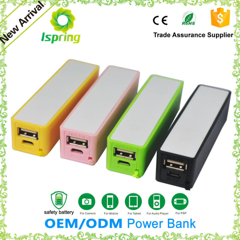 Cheapest less than one dollars perfume power bank 2600mah for all smart phones