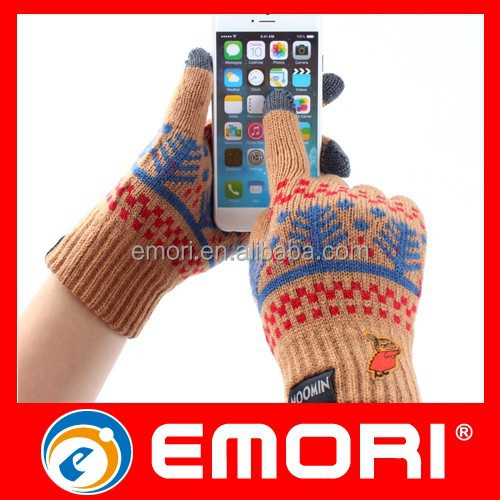 Non-toxic all-purpose winter glove for iphone 6 waterproof case