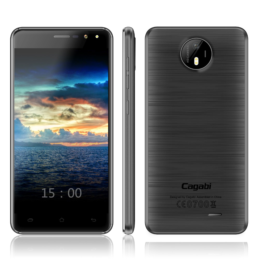Wholesale 5 inch Cagabi ONE Camera 5+8MP, RAM 1G ROM 8G, Dual SIM 2200mAh 3G Android 6.0 Mobile Phone with Google Play Store