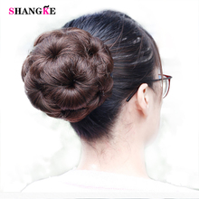 shangke 5 Colors Remy Hair Chignon Bun Donut Brazilian Hair Chignon Clip In Hairpiece Extensions