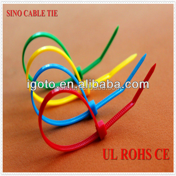 yellow color cable tie 100% new nylon 66 scrap Rohs CE approved