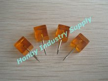 Adorable new square orange color push pin for decoration