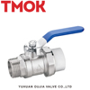 1 inch M Thread Long Handle Brass Ball Valve