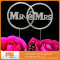 alibaba new products Custom Mr and Mrs rhinestone cake topper for wedding decoration