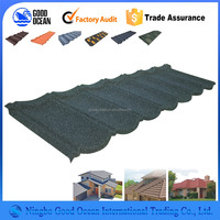 egg nice price building material sand coated steel roof tiles with different color