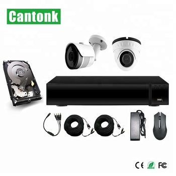 Cantonk Hot selling Waterproof IR Dome & Bullet Camera 1080P DIY XVR Kits HD Cameras