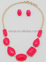 Fashion plastic bead necklace NSNK-23235