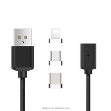 Factory provide 3in1 quick charging for Android Type-c iOS magnetic 3in1 USB cable
