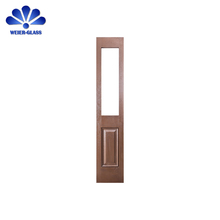 New design entry fiberglass external wood doors