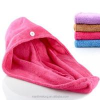 Coral Towel Magic Drying Turban Wrap Towels Hat Cap Hair Dry Quick Dryer Bath Salon Towel