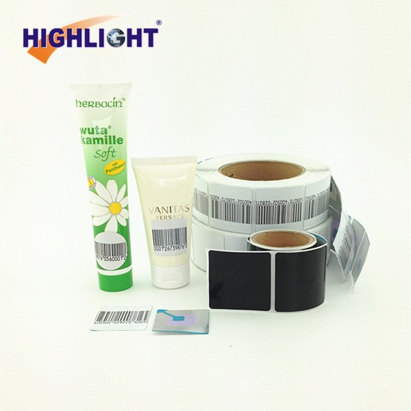 HIGHLIGHT RL044S 8.2Mhz 4x4 Security printable RF soft tag/ adhesive label paper