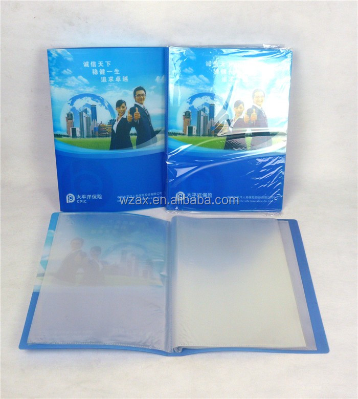Cheap pp a4 size presentation book 20 pockets display book