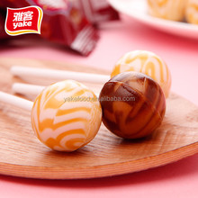 Yake 210g big bom lollipop with plastic stick