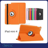 Lichee texture fashion rotary 360 degree smart leather case for iPad mini4