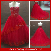 WD059 Sexy red pictures of beautiful wedding gowns wholesale price