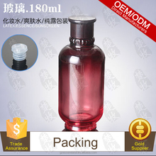 Packed Lime Water In 180ml Nice Red Glass Bottle