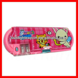 2013 new design pencil box with compartments,table pencil box