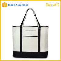 Wholesale White Cotton Canvas Tote Bag Long Handle For Shopping