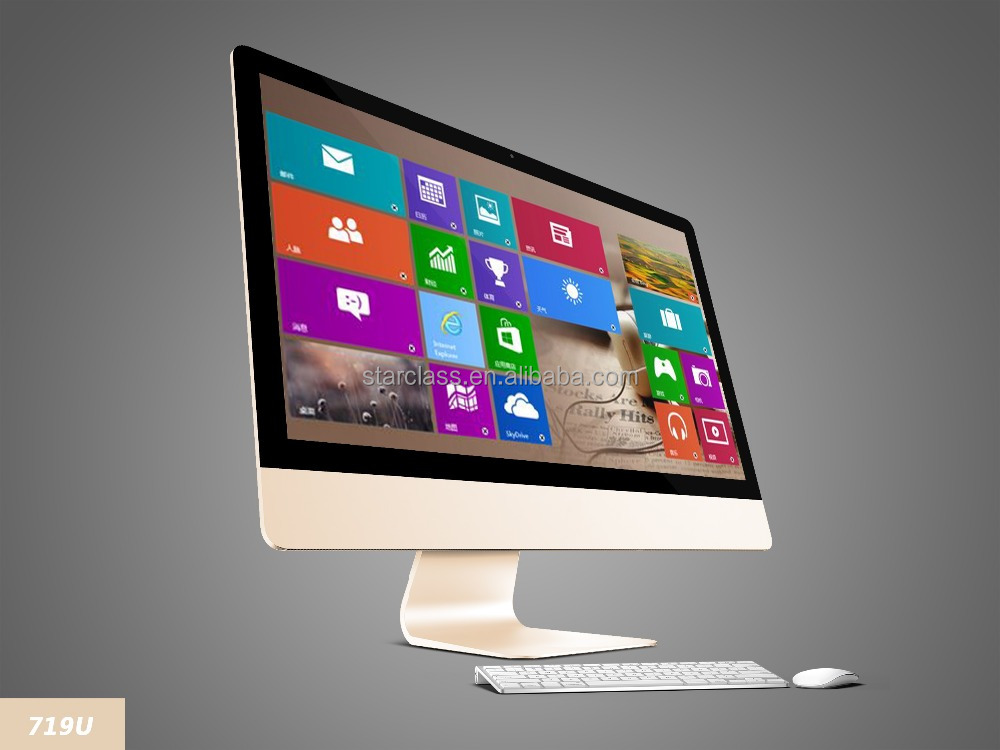 lenovo all in one pc desktop computer with touch monitor FHD screen