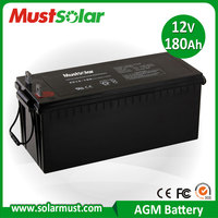 China Manufacturer 12V 180Ah AGM Battery for Solar PV