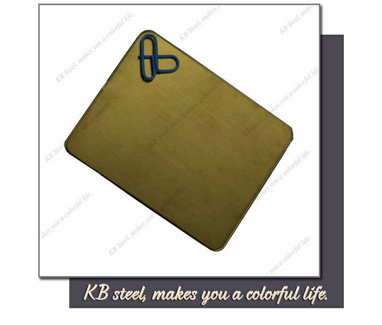 Durable 304 brushed gold color bronzed finish titanium plated stainless steel sheet