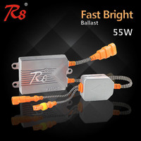 R8 55W Fast Bright HID Ballast Quick Start Electronic Ballast with Xenon Lamp and Anti-interference Wires