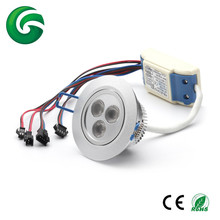 High quality 3*8w led downlights with CE RoHSRGB led ceiling light