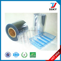 High barrier clear PVC/PVDC/PE 40g film for food packing