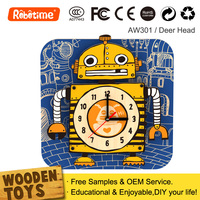Wooden Digital Wall Clock 3D DIY Home Decor New Products