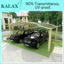 2 car carport by S shape cover with poly carbonate sheet for good price