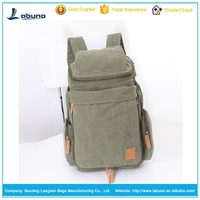 hot sale large capacity design outdoor hiking vintage style canvas travel big durable backpack bags for teens