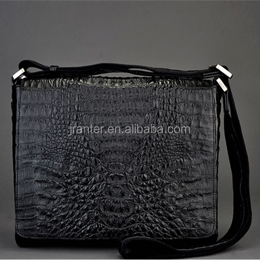 Exotic Design European Shoulder Bag for Men Custom Real Laptop Bag Crocodile