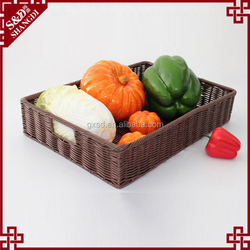 Food testing wickerwork rectangle fruit and vegetable storage kitchen basket