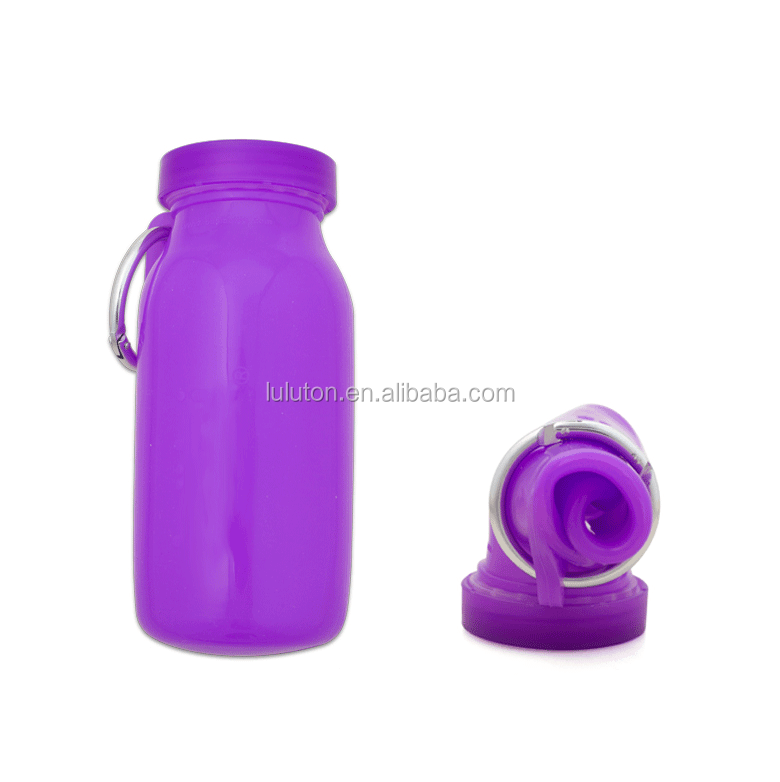 Collapsible Silicone Water Bottle foldable water bottle