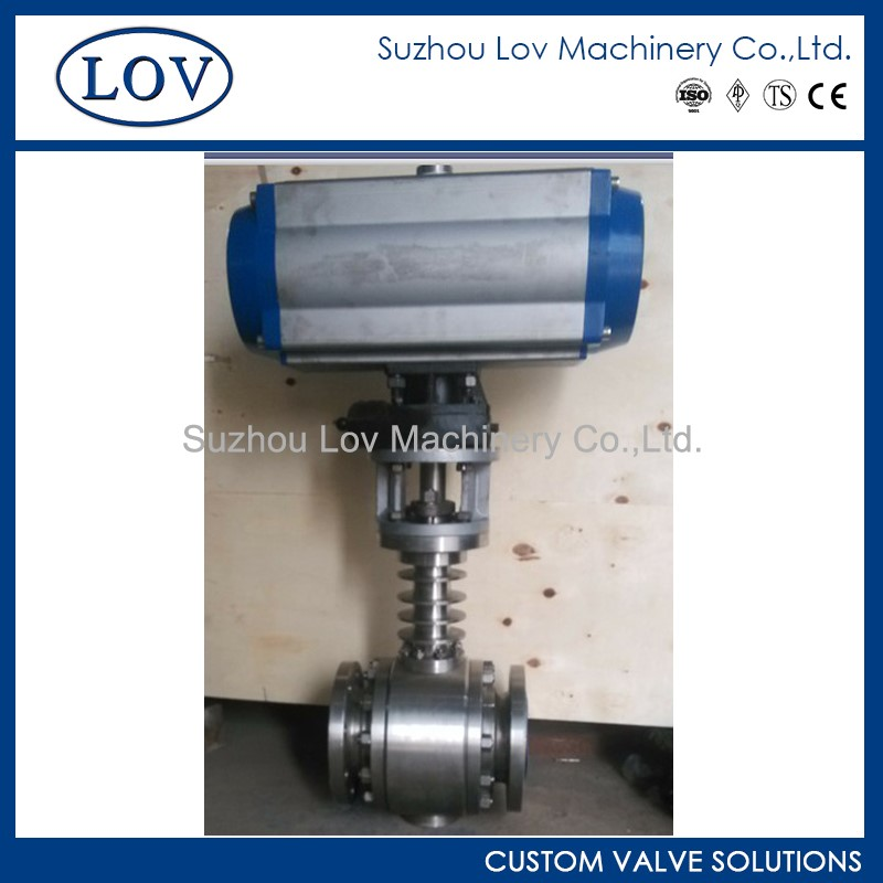 Good Reputation Pneumatic Operated Float Extended Stem Ball Valve With Key