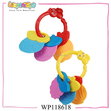 non-toxic cheap plastic baby rattle toys ,funny teeth toy,toy plastic teeth