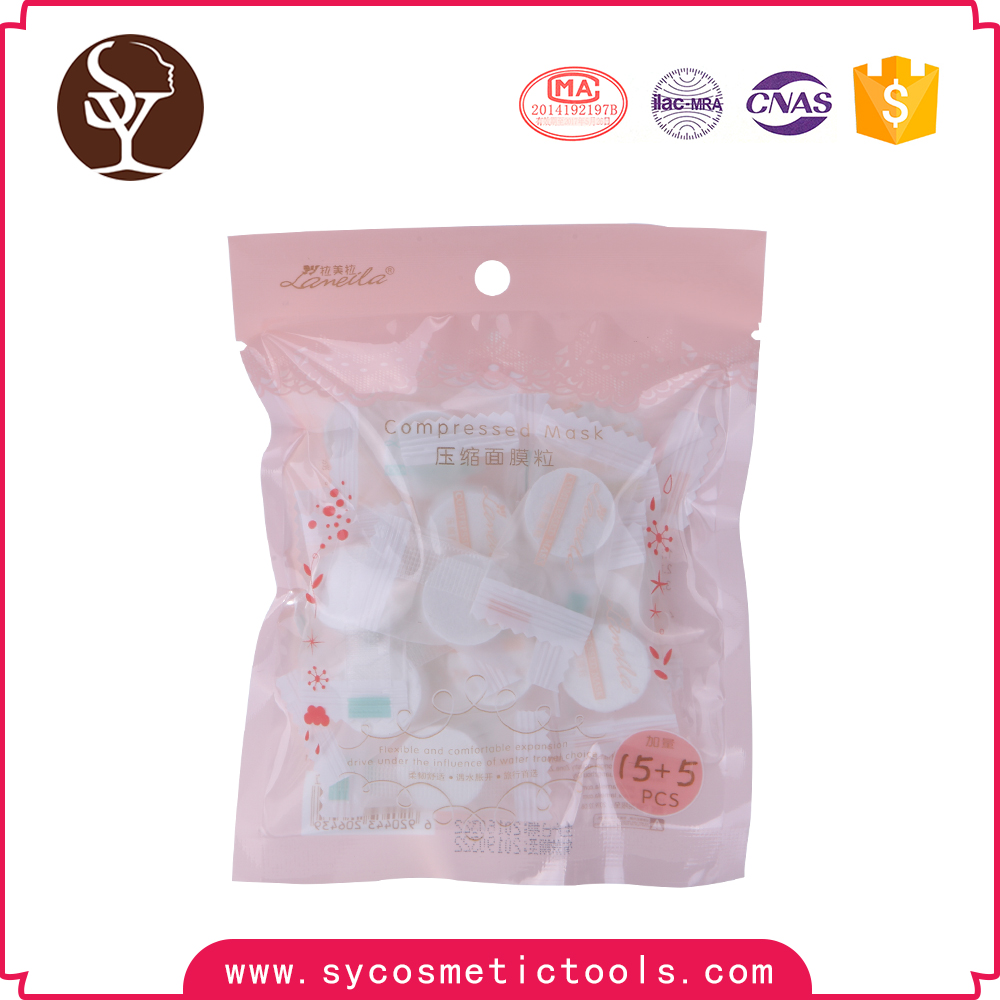 OEM beauty product high quality compressed facial mask sheet